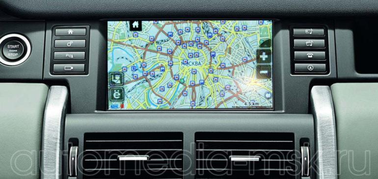 Установка навигационного блока на Land Rover