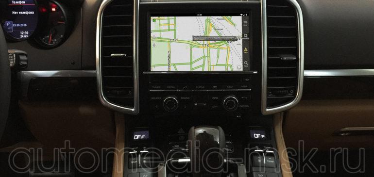 Установка видеоинтерфейса в Porsche Cayenne