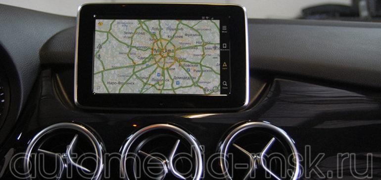 Установка навигации в Mercedes A-Class и B-Class