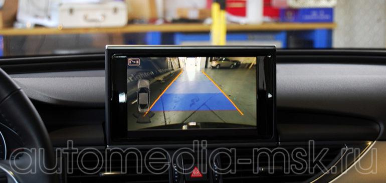 Установка парковочной камеры на Audi A7