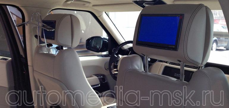 Установка дополнительных мониторов на Range rover Vogue