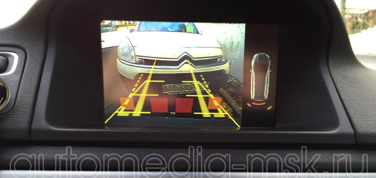 Установка парковочной камеры на Volvo XC70