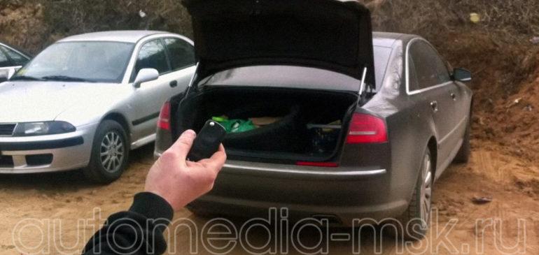 Установка электропривода пятой двери на Audi A8
