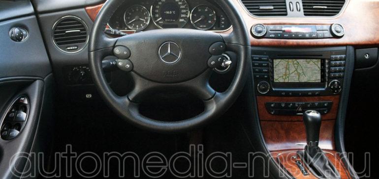 Установка навигации в Mercedes CLS
