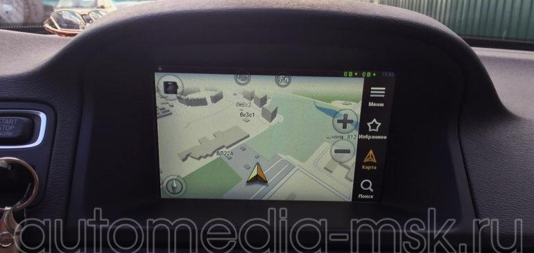 Установка навигации в Volvo S80