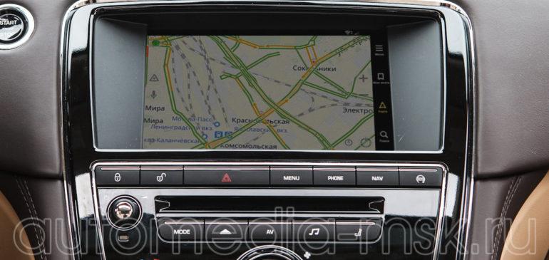 Установка навигации в Jaguar XJ