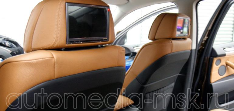 Установка дополнительных мониторов в BMW X6