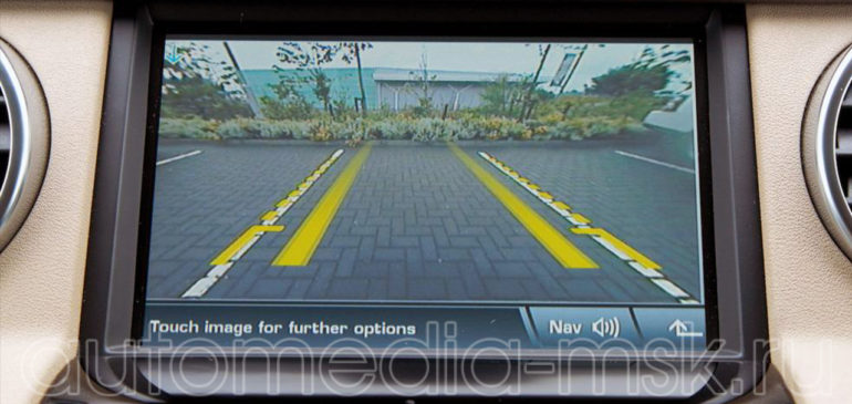 Установка парковочной камеры на Range rover