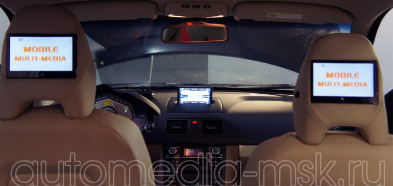 Установка дополнительных мониторов в Volvo S80