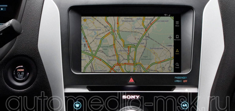 Установка навигации в Ford Explorer