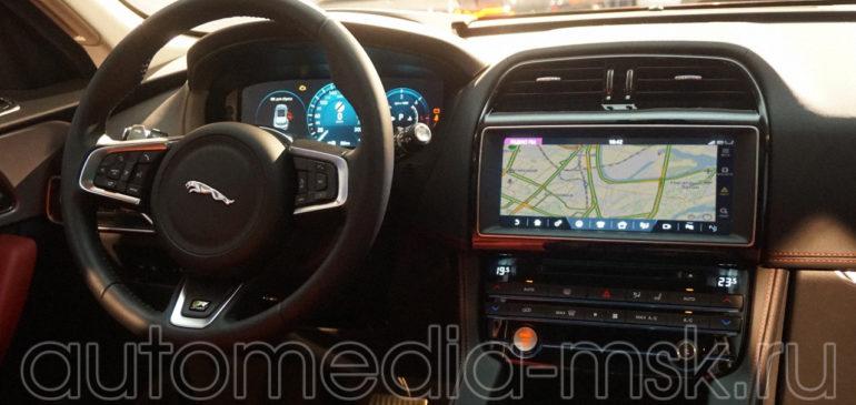 Установка навигации в Jaguar F-pace
