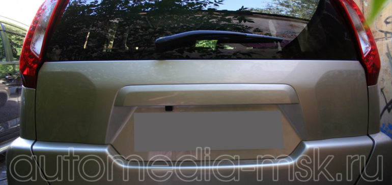 Установка парковочной камеры на Nissan X-Trail