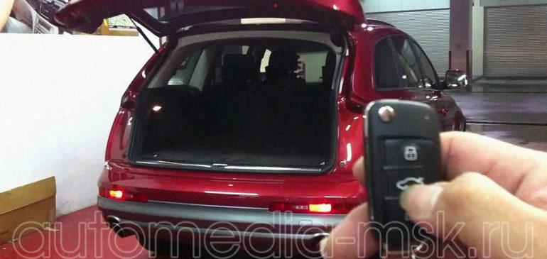 Установка электропривода пятой двери на Audi Q7