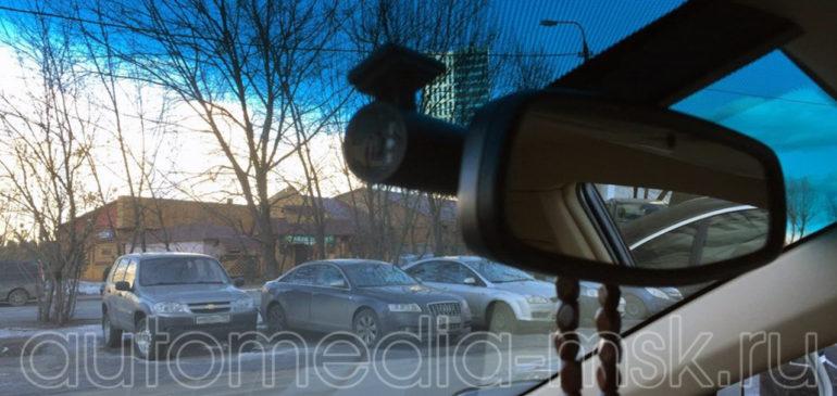 Скрытая установка видеорегистратора на Cadillac ATS