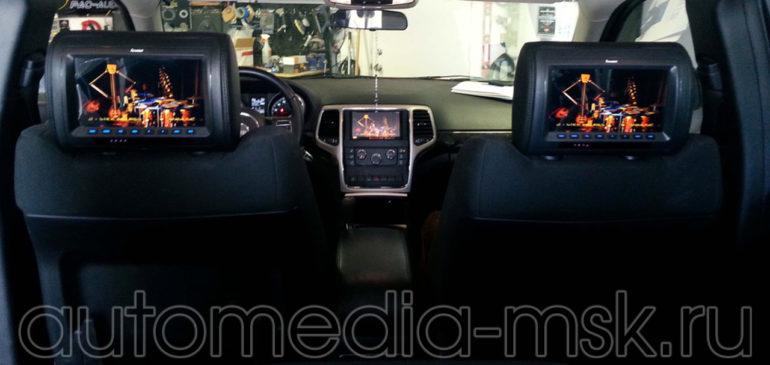 Установка дополнительных мониторов в Jeep Cherokee