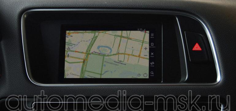 Установка навигации в Audi Q5