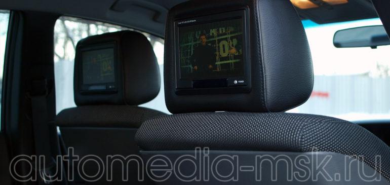 Установка дополнительных мониторов в Nissan Teana