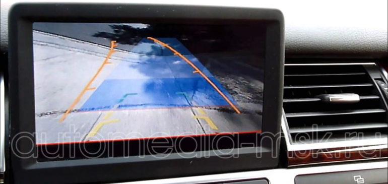 Установка парковочной камеры на Audi A8