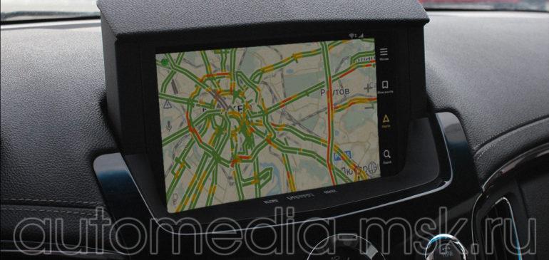 Установка навигации в Cadillac CTS