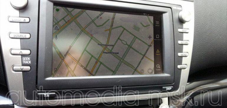 Установка навигации на Mazda 6