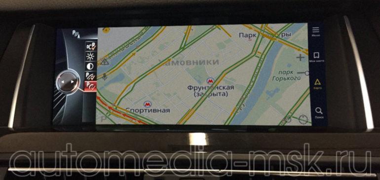 Установка навигации в BMW 5