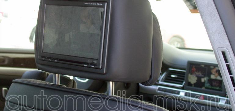 Установка дополнительных мониторов в Audi A8