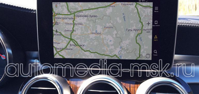 Установка навигации в Mercedes С-Class