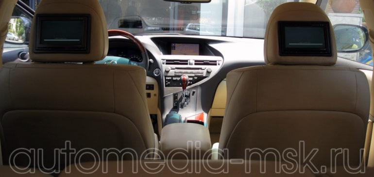 Установка дополнительных мониторов на Lexus RX
