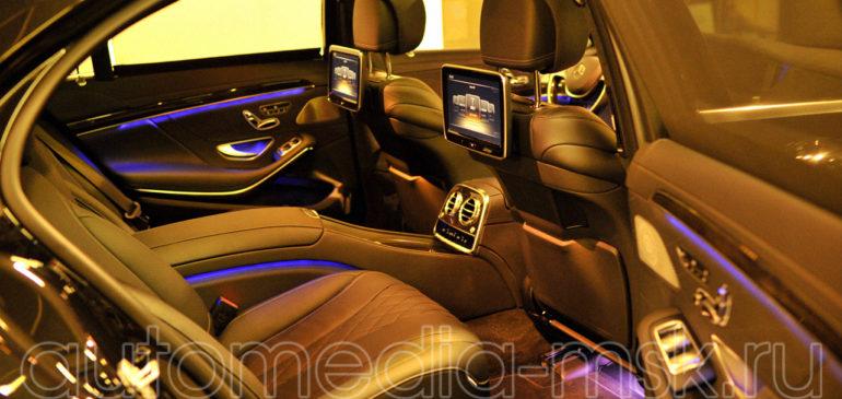 Установка дополнительных мониторов в Mercedes S-class