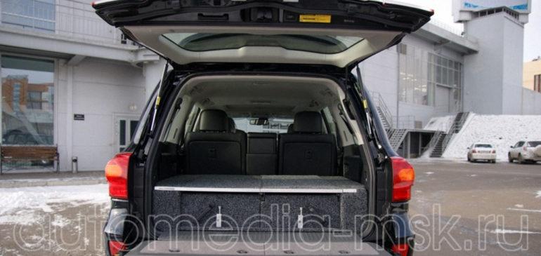 Установка электропривода пятой двери на Toyota Land Cruiser 200