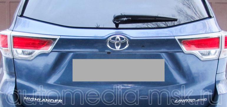 Установка парковочной камеры на Toyota Highlander