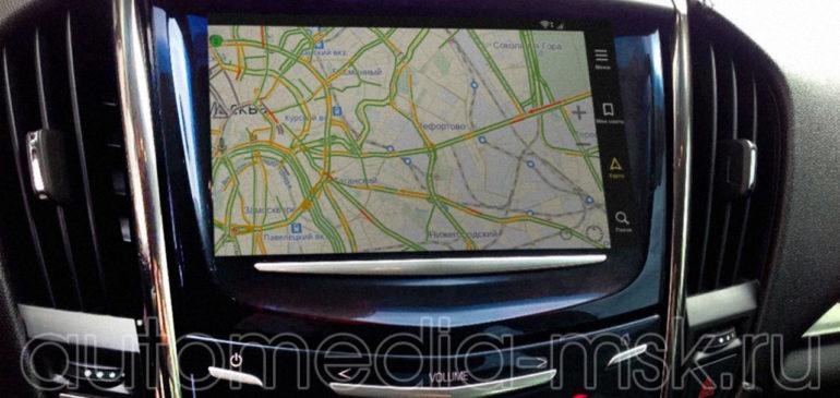 Установка навигации в Cadillac ATS
