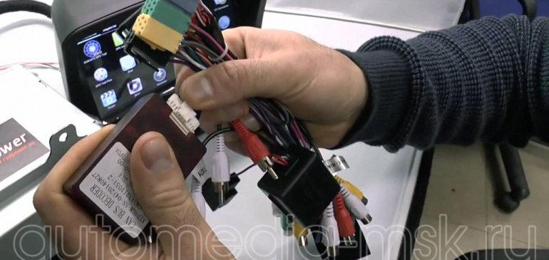 Установка видеоинтерфейса в Opel Mokka