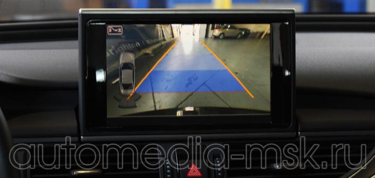 Установка парковочной камеры на Audi A6