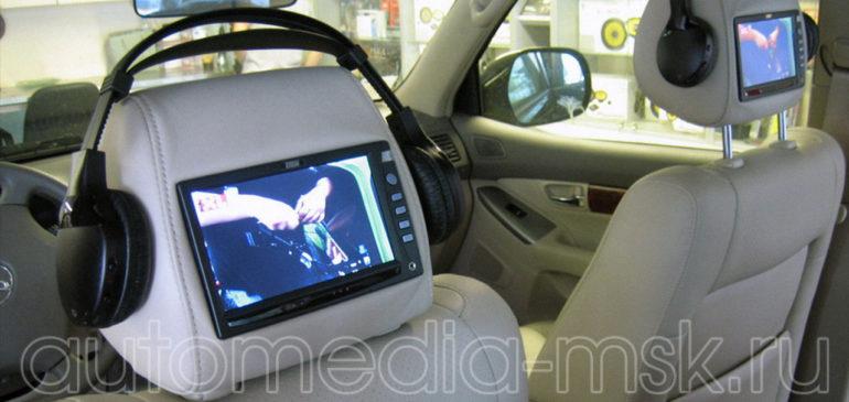 Установка дополнительных мониторов на Toyota Highlander