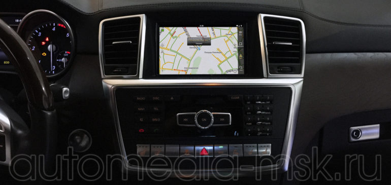 Установка навигационного блока QROI на Mercedes-Benz GLE