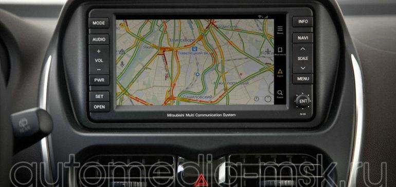 Установка навигации в Mitsubishi