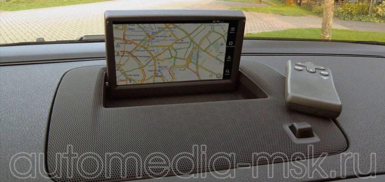 Установка навигации в Volvo S40