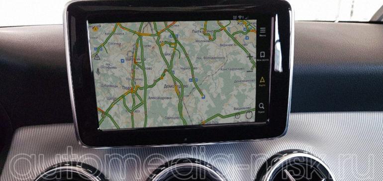 Установка навигации в Mercedes GLA