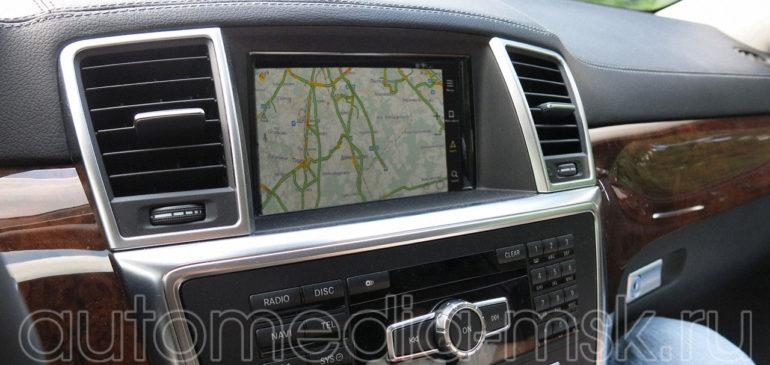 Установка навигации в Mercedes GL