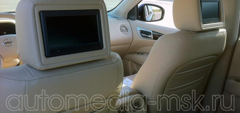 Установка дополнительных мониторов в Nissan Pathfinder