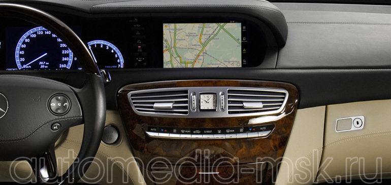 Установка навигации в Mercedes CL