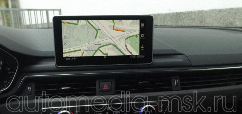 Установка навигации в Audi A5