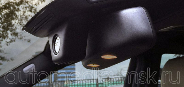 Скрытая установка видеорегистратора на Mercedes GLK