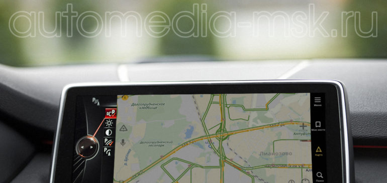 Установка навигации в BMW X5