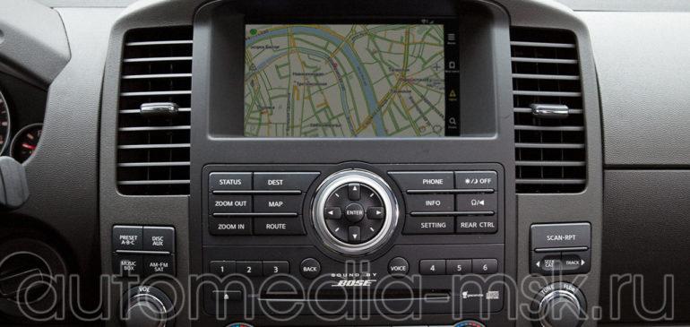 Установка навигации в Nissan Pathfinder