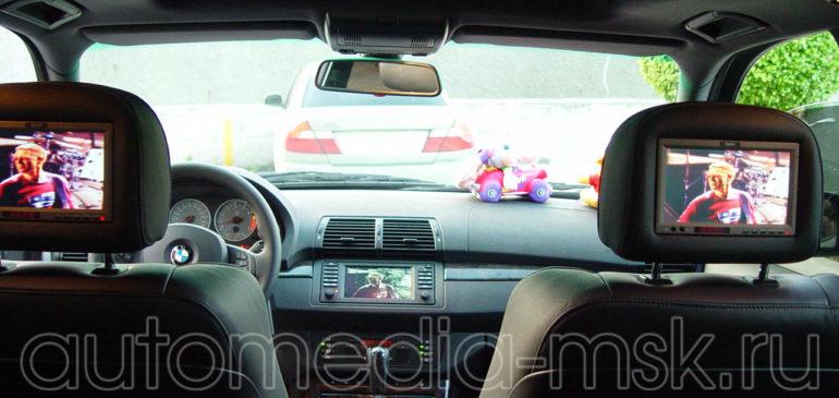 Установка дополнительных мониторов в BMW X5