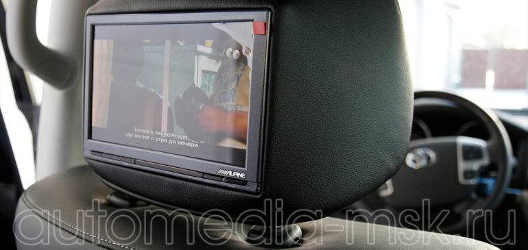 Установка дополнительных мониторов на Toyota Land Cruiser 200