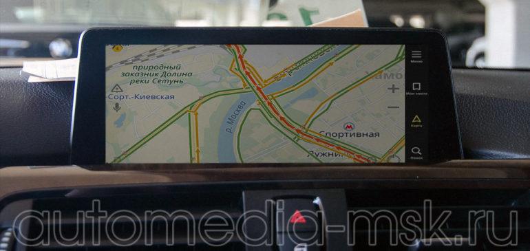 Установка навигации в BMW 4