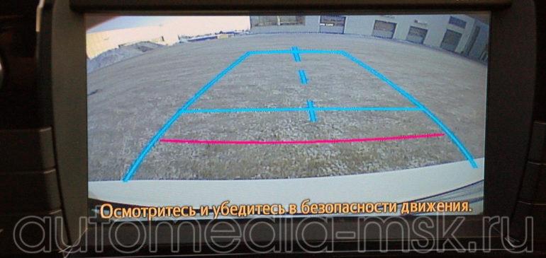 Установка парковочной камеры на Toyota Land Cruiser 200